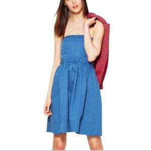 NWT Marc Jacobs Blue Strapless Fit and Flare Dress